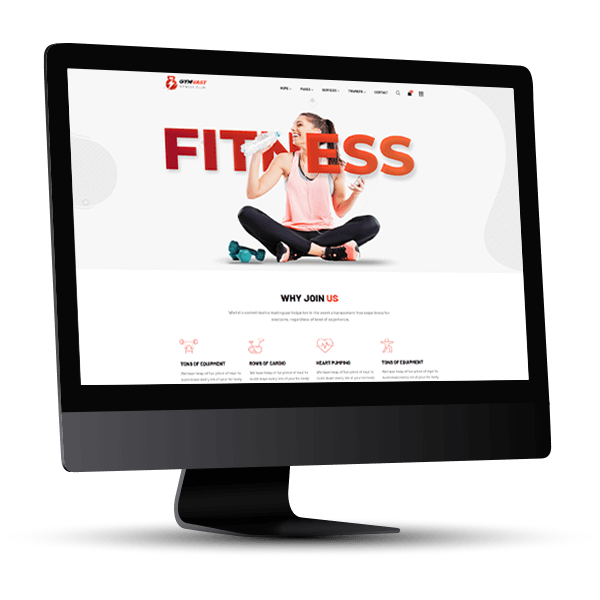 fitmotion fitness-Website Beispielansicht