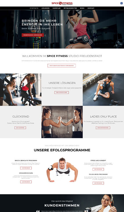 fitmotion Kundeseite - Spice Fitness