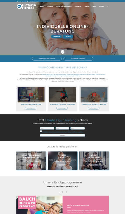 fitmotion Kundenwebsite - Olympia Fitness