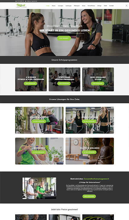 fitmotion Kundenwebsite - move Finest Fitness